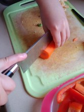 cutting carrot